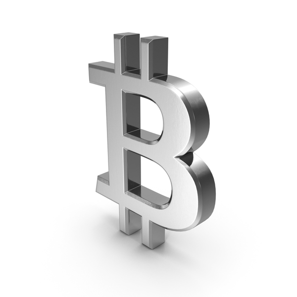 Currency Symbols: Bitcoin Symbol Silver PNG & PSD Images
