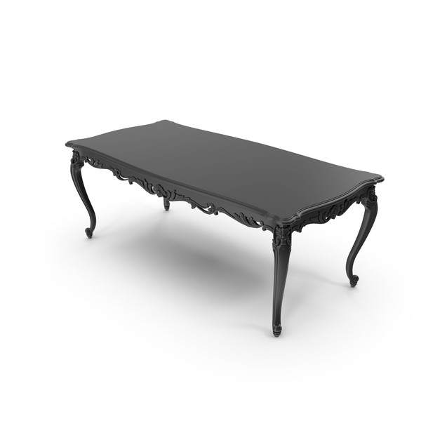 Black Absolom Roche Baroque Dining Table PNG & PSD Images