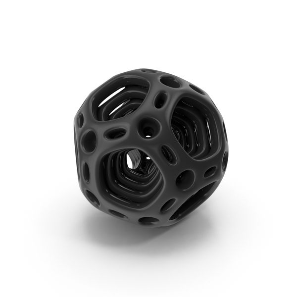 Black Abstract Nested Dodecahedron PNG & PSD Images