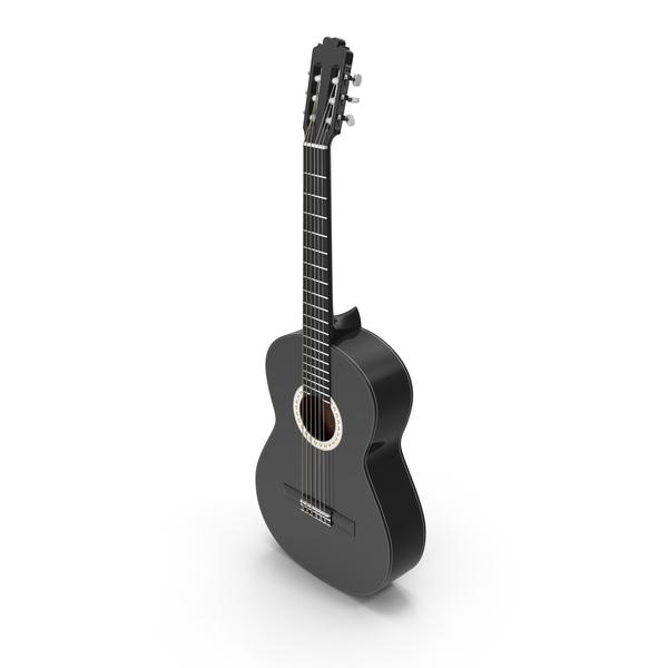 Black Acoustic Guitar PNG & PSD Images
