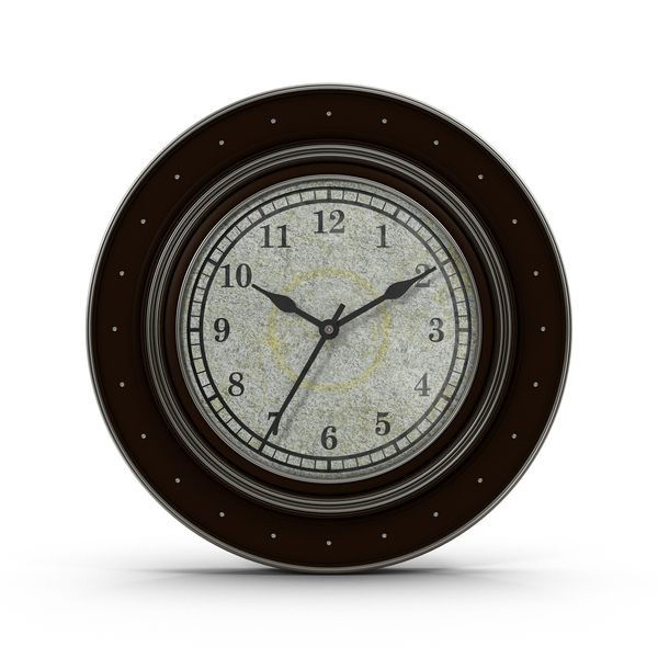 Wall: Black and Silver Clock PNG & PSD Images