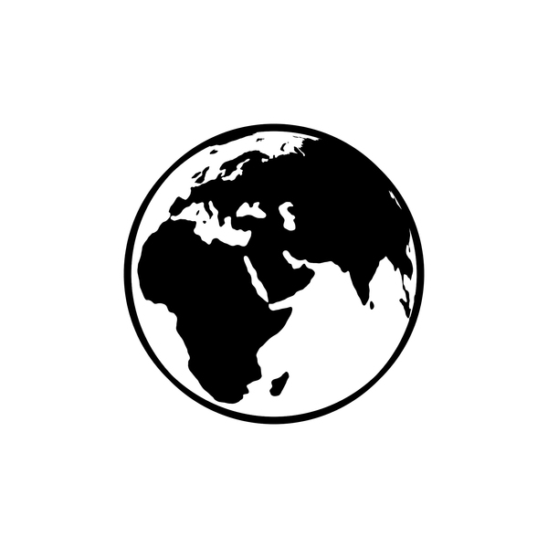 Black and White Globe PNG & PSD Images