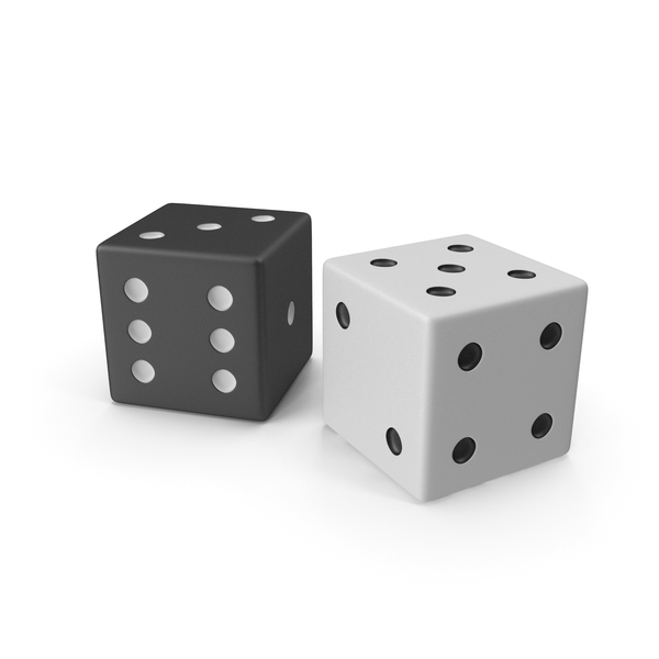 Black and White Playing Dice PNG & PSD Images