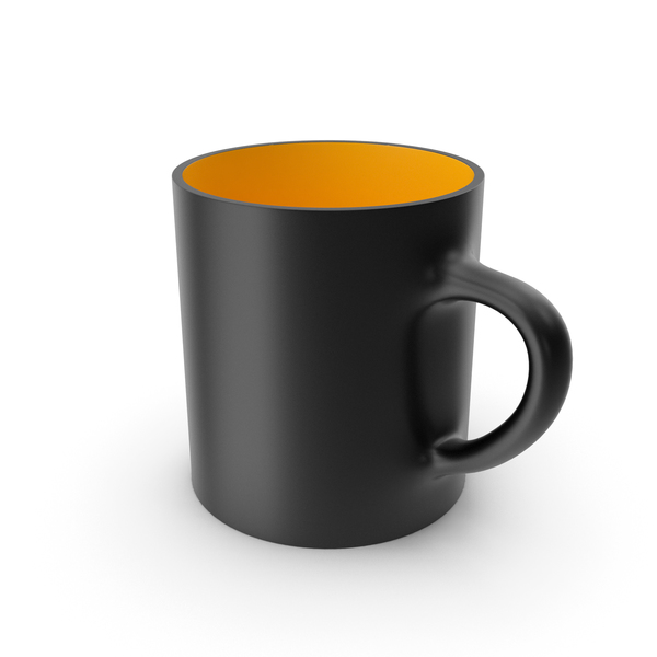Coffee: Black and Yellow Cup PNG & PSD Images
