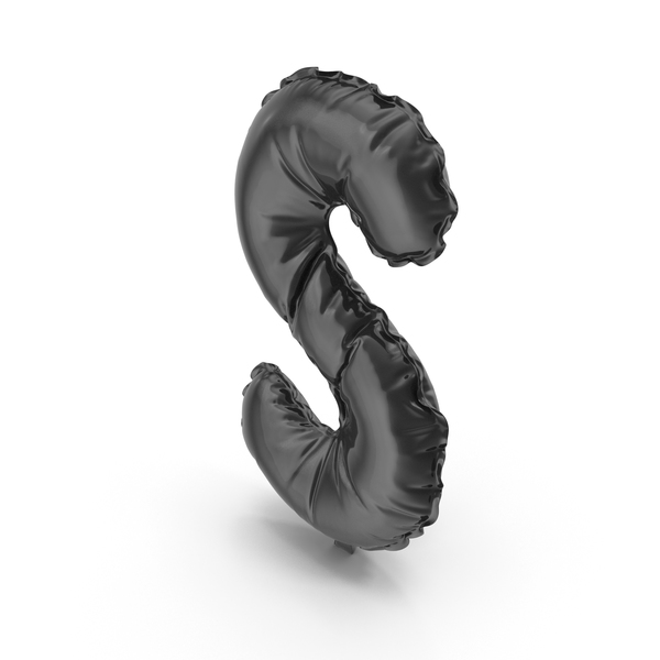 Black Balloon Letter S PNG & PSD Images
