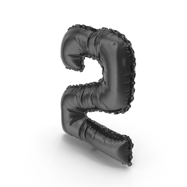 Black Balloon Number 2 PNG & PSD Images