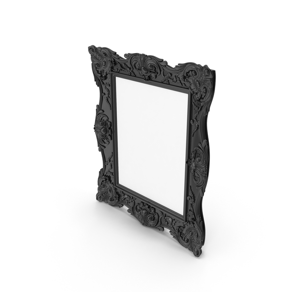 Picture: Black Baroque Frame PNG & PSD Images