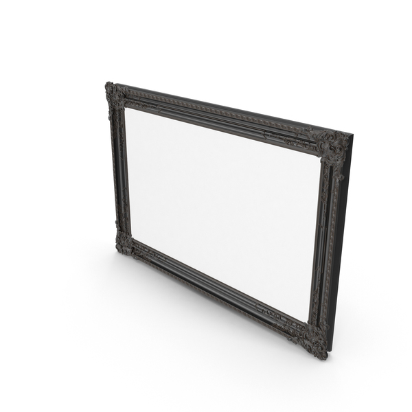 Black Baroque Picture Frame PNG & PSD Images