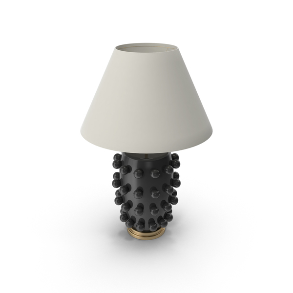 Black Base Linden Table Lamp PNG & PSD Images