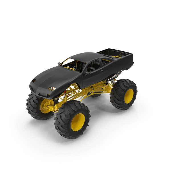 Black Bigfoot Monster Truck PNG & PSD Images
