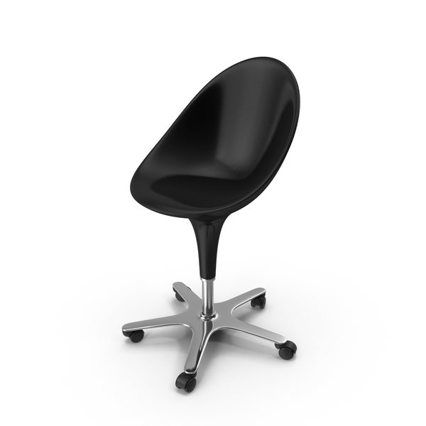 Black Bombo Chair With Wheels PNG & PSD Images