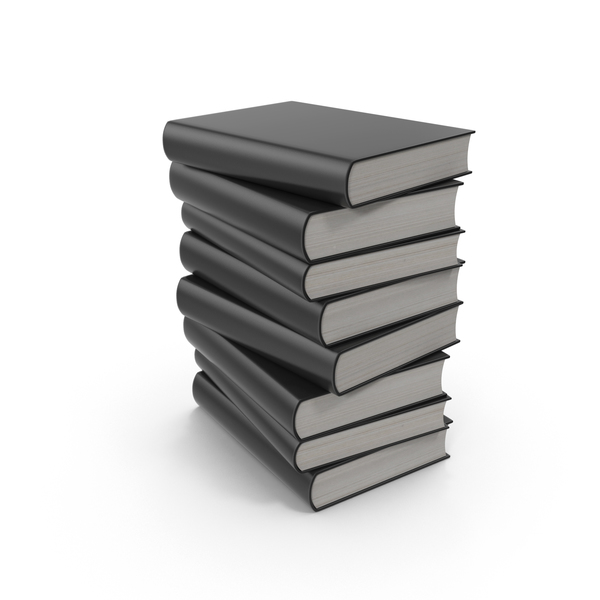 Black Book Stack PNG & PSD Images