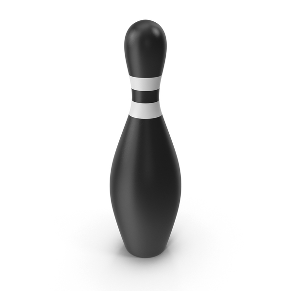 Black Bowling Pin Object