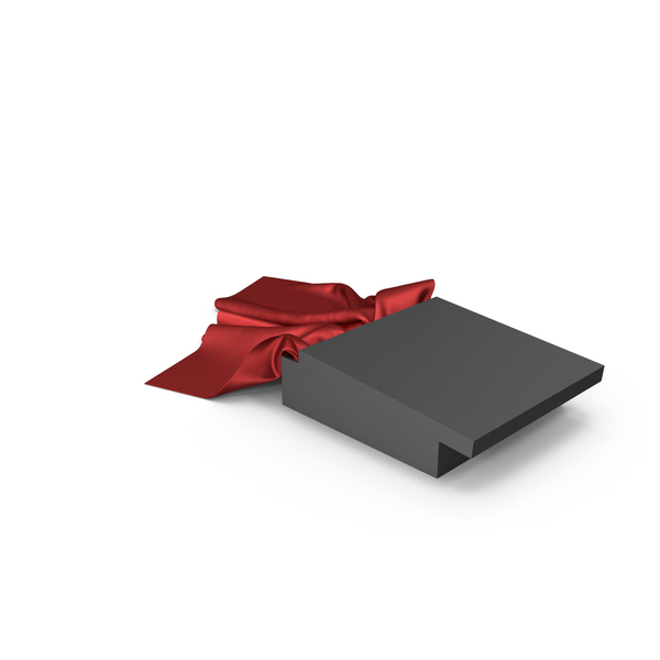 Black Box with Red Silk Scarf PNG & PSD Images