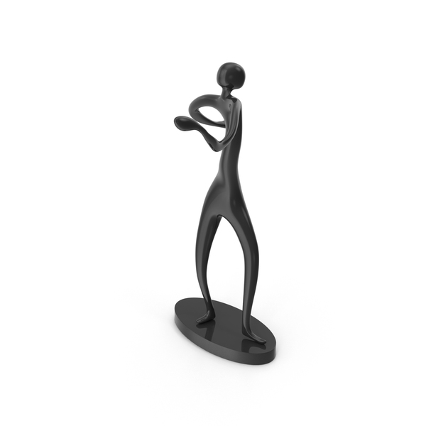 Black Decor Statue Dance Arms Around PNG & PSD Images