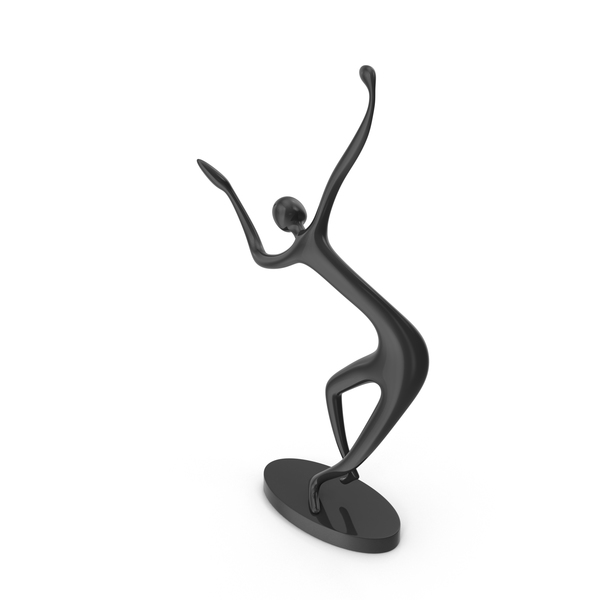 Black Decor Statue Dance Hand Tilt PNG & PSD Images