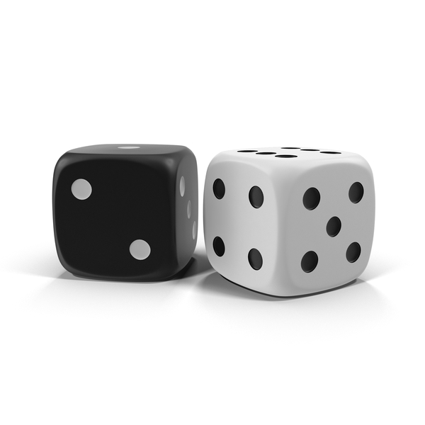 Black Dice And White Dice Object