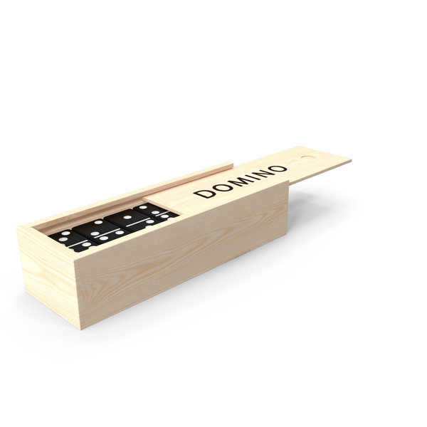 Dominos: Black Domino Knuckles in Wooden Box PNG & PSD Images