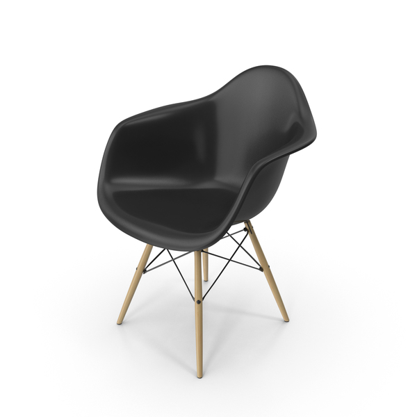 Arm Chair: Black Eames Dowel Leg Armchair PNG & PSD Images