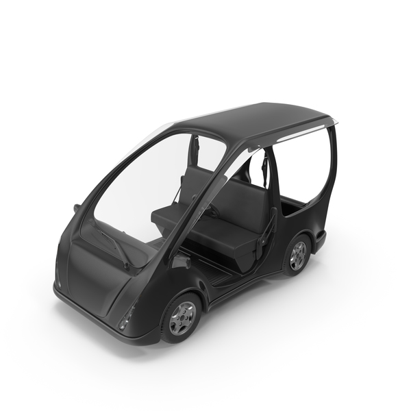 Black Electric Golf Car PNG & PSD Images
