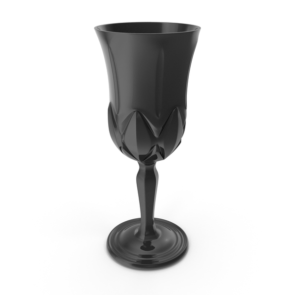Champagne Flute: Black Engraved Glass PNG & PSD Images