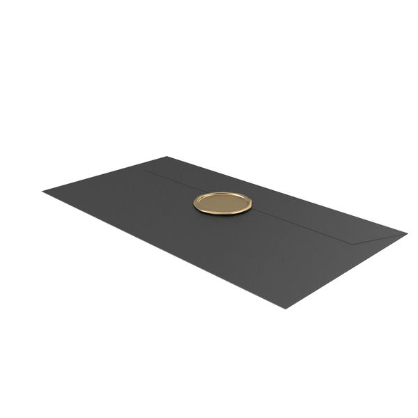 Black Envelope with Wax Stamp PNG & PSD Images
