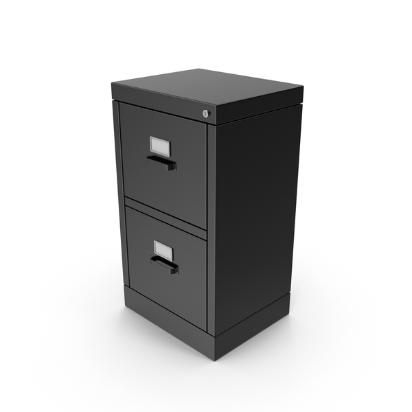 Black File Cabinet PNG & PSD Images