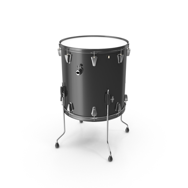 Black Floor Tom Drum PNG & PSD Images
