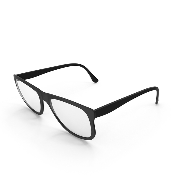 Black Framed Glasses PNG & PSD Images