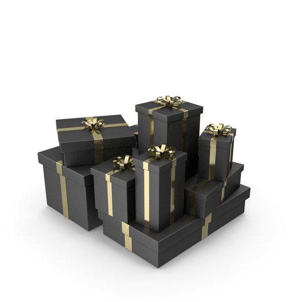 Box: Black Gift Boxes PNG & PSD Images