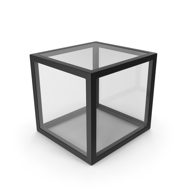 Black Glass Cube PNG & PSD Images