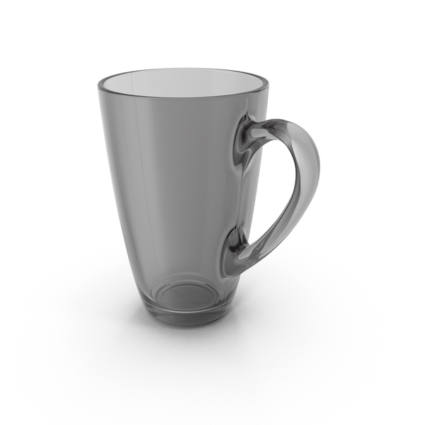 Coffee Cup: Black Glass Mug PNG & PSD Images