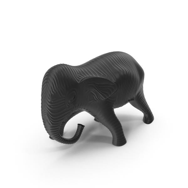 Black Gold Elephant Sculpture PNG & PSD Images