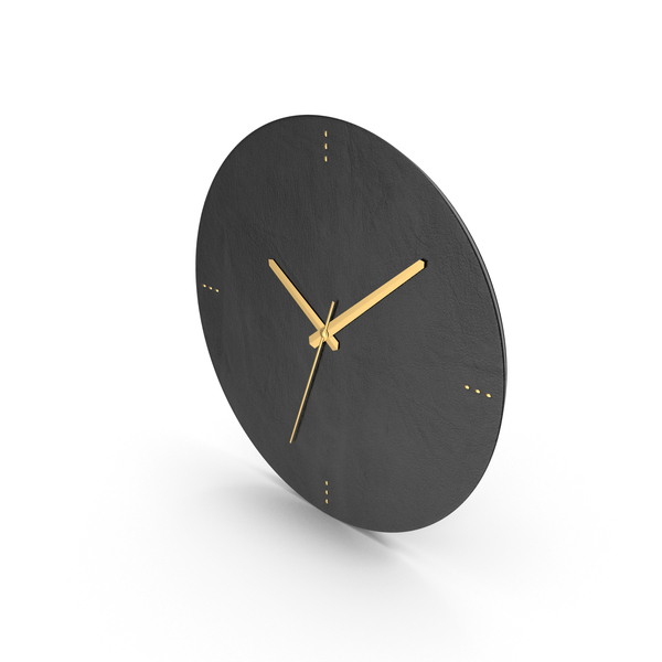 Black Leather Clock PNG & PSD Images
