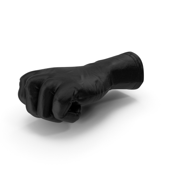 Black Leather Glove Fist PNG & PSD Images