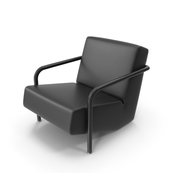 Black Leather Porro Chair PNG & PSD Images