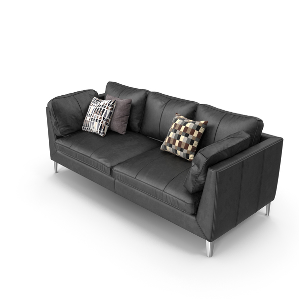 Black Leather Sofa PNG & PSD Images