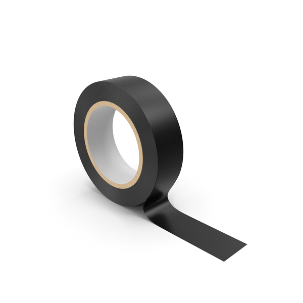 Packing: Black Masking Tape PNG & PSD Images