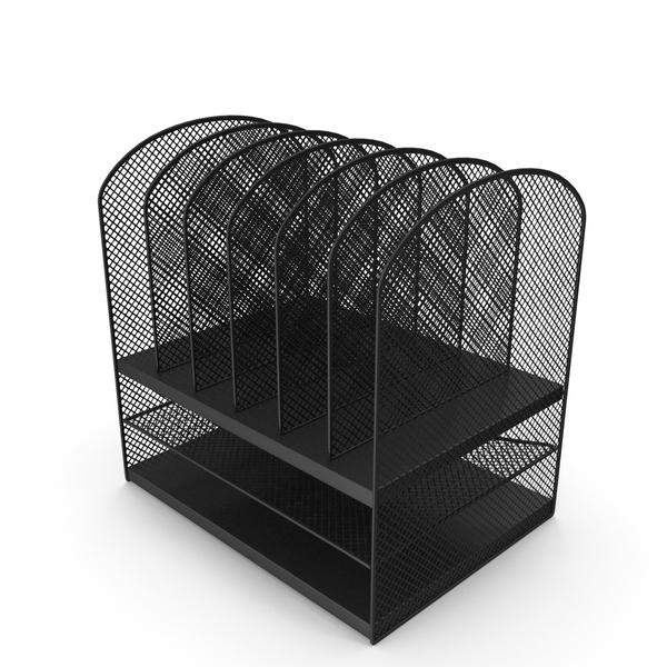 Black Mesh Tray Desktop Organizer PNG & PSD Images