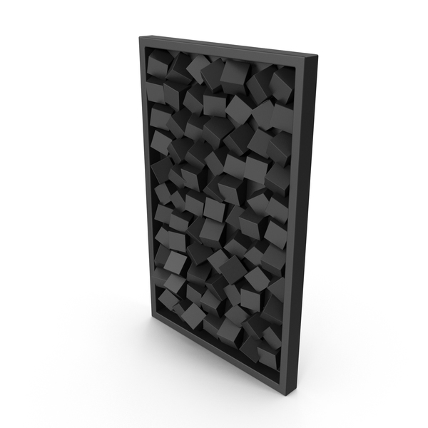 Black Modern Wood Wall Art PNG & PSD Images