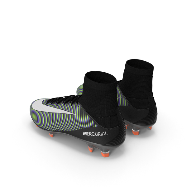 Black Nike Mercurial Veloce Football Cleats PNG & PSD Images