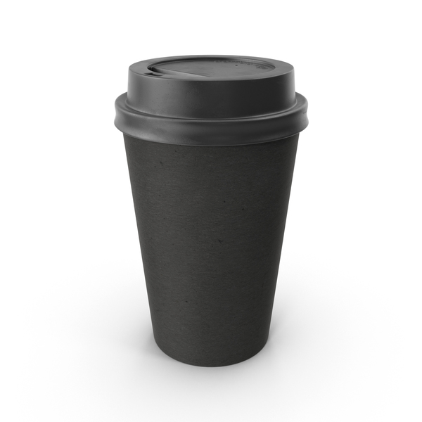 Black Paper Coffee Cup No Sleeve PNG & PSD Images