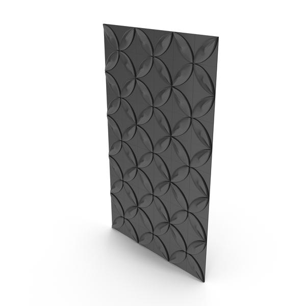 Black Petal Panel Wall PNG & PSD Images