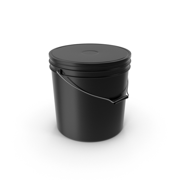 Black Plastic Bucket PNG & PSD Images