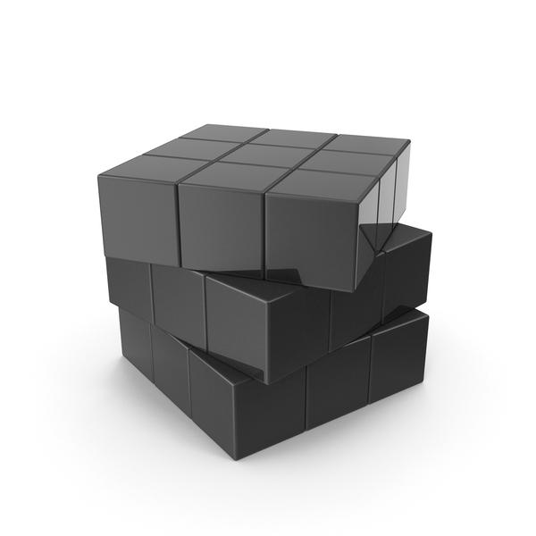 Games: Black Puzzle Cube PNG & PSD Images