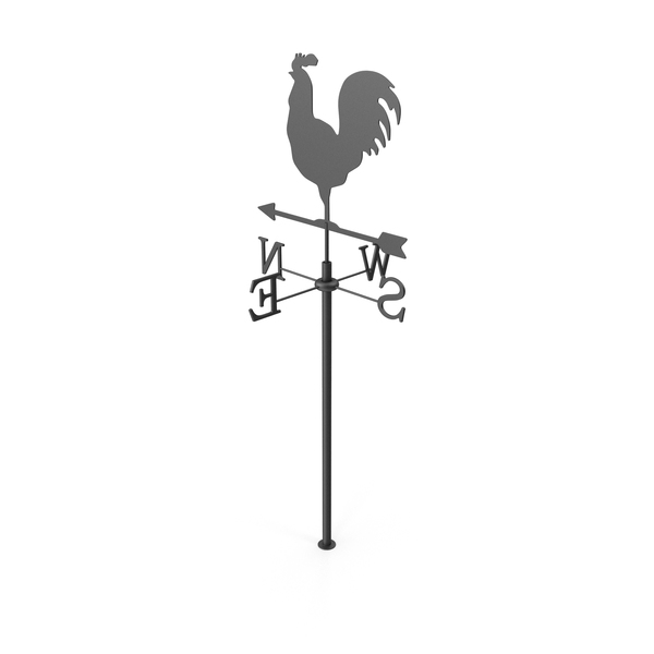 Black Rooster Chicken Metal Weathervane PNG & PSD Images