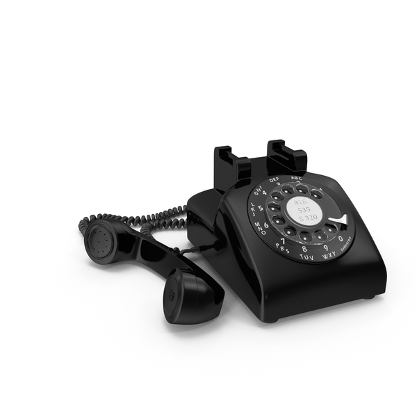 Black Rotary Phone Object