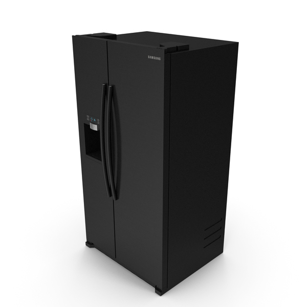 Black Samsung Counter Depth Refrigerator with Ice Maker PNG & PSD Images
