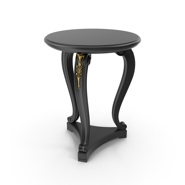 Black Seven Sedie Productions Pilate Modern Times Side Table PNG & PSD Images