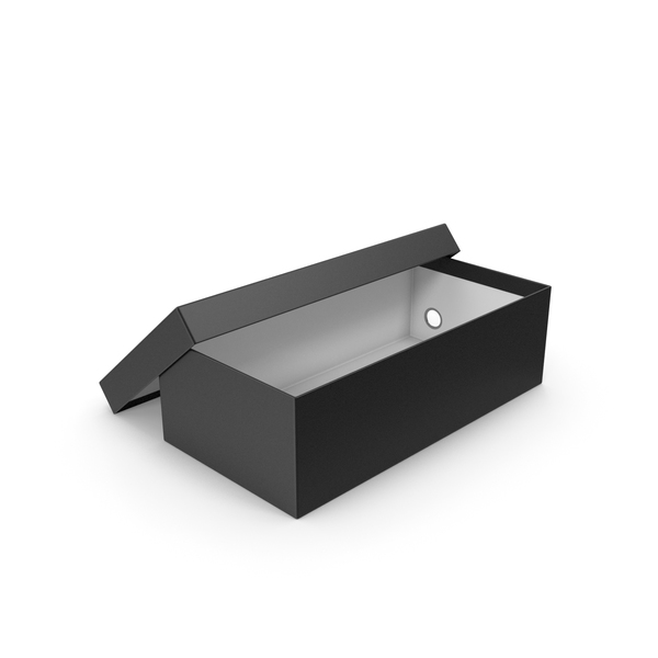 Black Shoe Box Open PNG & PSD Images